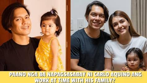Star Magic Inside News: Paano nga ba napagsasabay ni Carlo Aquino ang work at time with his family? Image Thumbnail