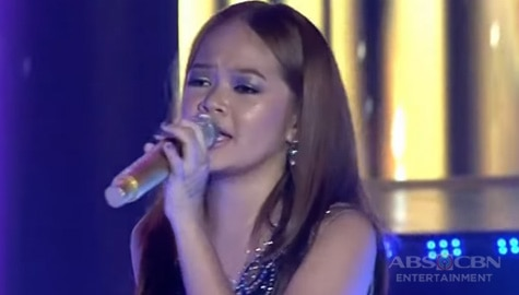 TNT 2 Huling Tapatan: Janine Berdin rocks the stage with her medley performance of Bamboo's songs Image Thumbnail