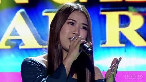 TNT 4 FINAL RESBAK: Almira Lat sings I Look To You Image Thumbnail
