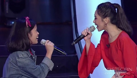 "WATCH: Coach Sarah sings ""Pahiram Ng Isang Kanta"" with Ericka 