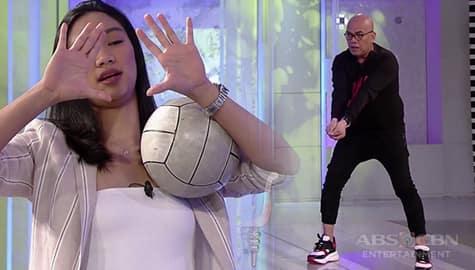TWBA: Bea de Leon, tinuruan si Tito Boy maglaro ng volleyball Image Thumbnail