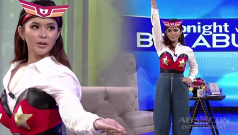 Is she the next Darna? Loisa Andalio wears the iconic red bra in her TWBA audition! Image Thumbnail