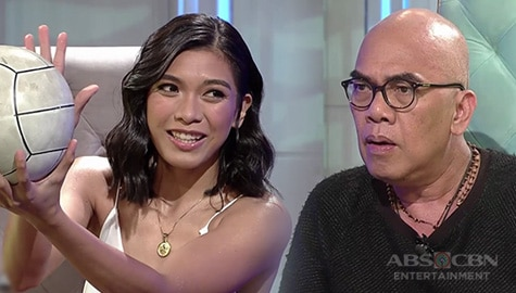 TWBA: Tito Boy learns a volleyball technique from Alyssa Valdez Image Thumbnail
