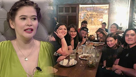 """TWBA: Bela, nilinaw ang kwento sa likod ng dinner """"para kay Bea"""" kasama sina Angelica, Bea, at Angel Image Thumbnail"""