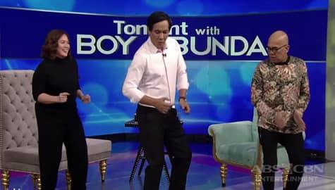 """TWBA: Joey Marquez, tinuruan sina Sylvia at Tito Boy ng """"Do The Hustle"""" dance moves Image Thumbnail"""