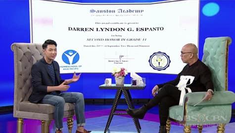 TWBA: Darren, magtatapos ng highschool with honors sa kabila ng kanyang schedule  Image Thumbnail