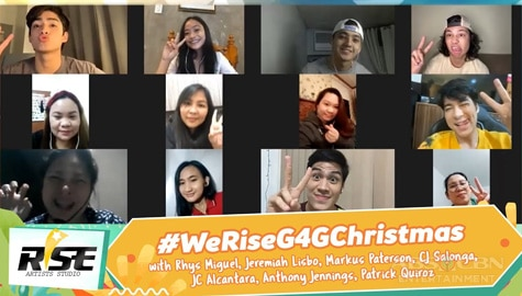 We Rise Together G4G Christmas showcase with Rhys, Jeremiah, Markus, CJ, JC, Anthony and Patrick Image Thumbnail