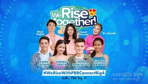 We Rise Together with PBB Connect Big 4 Kobie, Andrea, Jie-Ann and Liofer