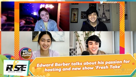 We Rise Together: Edward Barber talks about his passion for hosting and new show 'Fresh Take' Image Thumbnail
