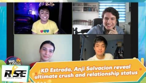 We Rise Together: KD Estrada, Anji Salvacion reveal ultimate crush and relationship status Image Thumbnail