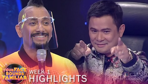 WEEK 1: Your Face Sounds Familiar Family, sumabak sa 'Chikaboom' dance challenge | YFSF 2021 Image Thumbnail