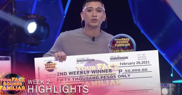 WEEK 2 Winner: Jhong Hilario as Bamboo   Your Face Sounds Familiar 2021