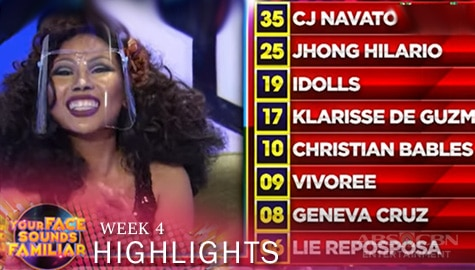 WEEK 4: Official Tally of Points | Your Face Sounds Familiar 2021 Image Thumbnail