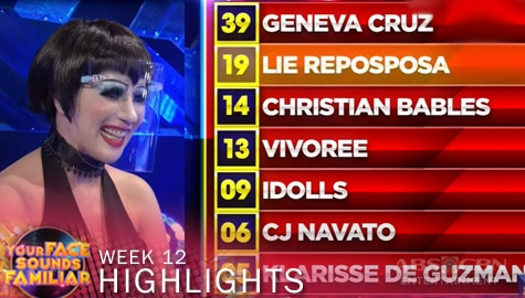 WEEK 12: Official Tally of Points | Your Face Sounds Familiar 2021 Image Thumbnail